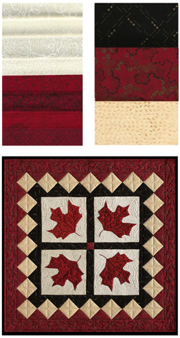 Canadian Maple Leaf (Red Leaves) Fabric Kit | Traditional Quilt ... : canadian quilts for sale - Adamdwight.com